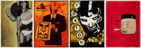 KAWS, Shepard Fairey, Barry McGee, and Misha Hollenbach Tokion Posters (set of 4), c.1999 Offset lit