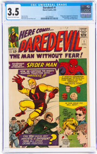 Daredevil #1 (Marvel, 1964) CGC VG- 3.5 Cream to off-white pages