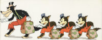 The Three Little Wolves Big Bad Wolf and Sons Cellulo de Production (Walt Disney, 1936)