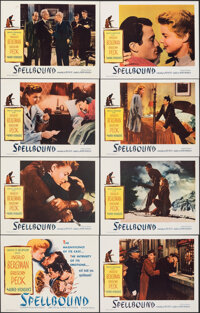 """Spellbound (Selznick, R-1956). Overall: Very Fine+. Lobby Card Set of 8 (11"""" X 14""""). Hitchcock. ... (Total: 8..."""
