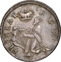 (C. 1663-1672) Small Size St. Patrick, Silver AU58 NGC. W-11520, Martin 1c.18-Ba.17, High R.7. ...(PCGS# 45)