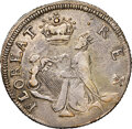 Colonials, (C. 1663-1672) Small Size St. Patrick Farthing, Silver XF40 NGC. W-11520, Martin 1d.1-Ba.11, High R.6. ...
