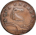 Colonials, 1786 New Jersey Copper, Curved Plowbeam, Maris 21-O, W-4915, R.5, AU53 NGC. ...