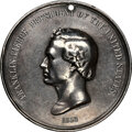 Indian Peace Medals, 1853 Franklin Pierce Peace Medal, Large Size, Julian IP-32, Silver--Tooled--NGC Details. XF. ...