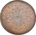 Colonials, 1785 Nova Constellatio Copper, Pointed Rays, Small Date, Crosby 2-A, W-1885, R.4, AU58 NGC....
