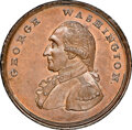 (1795) Washington Liberty & Security Penny, ASYLUM Edge, MS66 Brown NGC. Baker-30, W-11050, Musante GW-45, R.2....(P...
