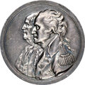 (Circa 1805) Washington - Franklin Sansom Medal, Silver, AU58 NGC. Betts-617, Julian CM-5a, Baker-58, Greenslet-82, Musa...