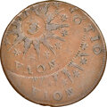 Colonials, 1785 Nova Constellatio Copper, Pointed Rays, Large Date, Crosby 5-E, W-1915, High R.4--Double Struck--AU53 NGC....