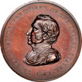 Indian Peace Medals, 1849-Dated Zachary Taylor Peace Medal, Middle Size, First Reverse, Julian IP-28, Bronze, MS63 Brown NGC. ...