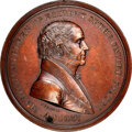 Indian Peace Medals, 1837-Dated (Post-1861) Martin Van Buren Peace Medal, Small Size, First Reverse, Julian IP-19, MS63 Brown NGC. ...
