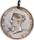 Indian Peace Medals, 1860-Dated Great Britain Peace Medal, Jamieson-34, Silver, MS61 NGC. ...