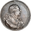 Indian Peace Medals, 1814-Dated Great Britain Peace Medal, Silver, Jamieson-24, AU55 NGC. ...