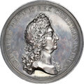 Indian Peace Medals, 1693-Dated France Louis XIV, Dauphin & Burgundy Dukes, Betts-75, Silver, MS62 NGC. ...