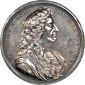 Undated (Circa 1683) Great Britain Charles II Presentation Medal, MI-595-277, Silver, AU55 NGC