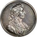 Indian Peace Medals, Undated (Circa 1683) Great Britain Charles II Presentation Medal, MI-595-277, Silver, MS62 NGC. ...