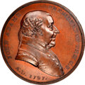1797-Dated (Post-1861) John Adams Peace Medal, Small Size, Second Reverse, Julian IP-1, MS64 Brown NGC