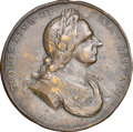 Undated (Circa 1714) Great Britain Peace Medal, Jamieson-2, Silvered Brass, VF35 NGC