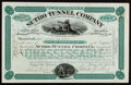 Peoples' Mutual Telephone Co. Gold Bond Certificate $1000 Jul. 1, 1898 About Uncirculated; Palmer Union Oil Co. Uniss...