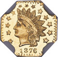 1876 50C Indian Octagonal 50 Cents, BG-949, R.4, MS67★ Deep Prooflike NGC. Ex: Sunrise Collection. Although BG-949 is re...