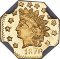 1878/6 50C Indian Octagonal 50 Cents, BG-952, MS67 Deep Prooflike NGC. Ex: Sunrise Collection. The sole finest example o...