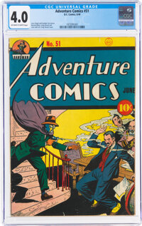 Adventure Comics #51 (DC, 1940) CGC VG 4.0 Off-white to white pages