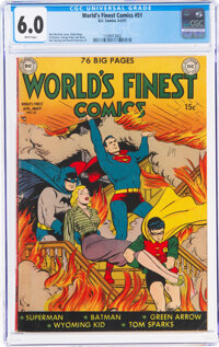 World's Finest Comics #51 (DC, 1951) CGC FN 6.0 White pages