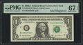 Radar Serial Numbers 63833836 and 63933936 Fr. 1930-B $1 2003A Federal Reserve Notes. PMG Superb Gem Unc 67 EPQ. ... (To...