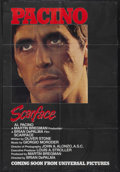 """Movie Posters:Crime, Scarface (Universal, 1983). One Sheet (27"""" X 39.5"""") Advance. CrimeAction. Starring Al Pacino, Steven Bauer, Michelle Pfeiff..."""