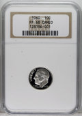 Proof Roosevelt Dimes: , 1960 10C PR68 Cameo NGC. NGC Census: (157/114). PCGS Population(229/62). Numismedia Wsl. Price: $40. (#85235)...