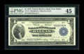 Fr. 741 $1 1918 Federal Reserve Bank Note PMG Choice Extremely Fine 45. Two light folds account for the grade on this no...