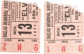 Music Memorabilia:Tickets, Elvis Presley Dallas Concert Ticket Stubs. A pair of ticket stubsfrom Elvis' November 13, 1971 performance at Dallas Memori...