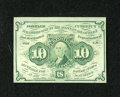 Fractional Currency:First Issue, Fr. 1242 10c First Issue Choice New. Deep and original embossing is found on this bright green first issue type note that sh...