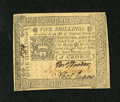 Colonial Notes:Pennsylvania, Pennsylvania October 25, 1775 5s Choice About New+++. A very lightcornerfold is all that keeps this broadly margined and cr...
