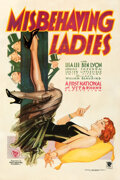 """Movie Posters:Comedy, Misbehaving Ladies (First National, 1931). Fine on Linen. One Sheet (27"""" X 41"""").. ..."""