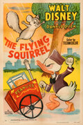 """Movie Posters:Animation, Donald Duck in The Flying Squirrel (RKO, 1954). Very Fine- on Linen. One Sheet (27"""" X 41"""").. ..."""