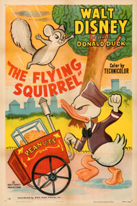 """Donald Duck in The Flying Squirrel (RKO, 1954). Very Fine- on Linen. One Sheet (27"""" X 41"""")"""