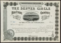 Miscellaneous:Other, Denver and Northwest Railway Co. Stock Certificate 100 Shares 19__ Remainder Choice Crisp Uncirculated. . Denver Circl... (Total: 4 items)