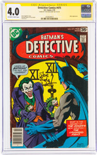 Detective Comics #475 Signature Series: Steve Englehart (DC, 1978) CGC VG 4.0 Off-white to white pages