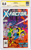 Modern Age (1980-Present):Superhero, X-Factor #1 Signature Series: Louise and Walt Simonson (Marvel, 1986) CGC VF 8.0 White pages....