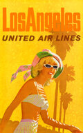 """Movie Posters:Travel, United Airlines: Los Angeles (United Airlines, 1960s). Rolled, Very Fine/Near Mint. Full-Bleed Travel Poster (25"""" X 40"""") Sta..."""