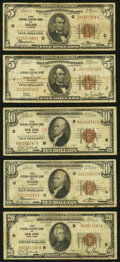 Fr. 1850-G; J $5 1929 Federal Reserve Bank Notes. Very Good or Better; Fr. 1860-B; G $10 1929 Federal Reserve B