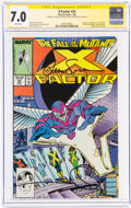 Modern Age (1980-Present):Superhero, X-Factor #24 Signature Series: Louise and Walt Simonson (Marvel, 1988) CGC FN/VF 7.0 White pages....