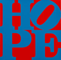 Robert Indiana (1928-2018) HOPE, 2015 Silkscreen in colors on triple primed canvas 10-1/4 x 10-1/