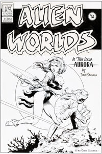Dave Stevens Alien Worlds #2 Cover Original Art (Pacific Comics, 1983)