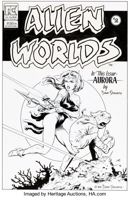 Dave Stevens Alien Worlds #2 Cover Original Art (Pacific Comics, 1983)....
