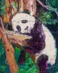 Paintings, Hunt Slonem (b. 1951). Panda, 2016. Oil on canvas. 30 x 24 inches (76.2 x 61 cm). Signed and dated on the reverse: Hun...