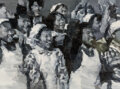 Paintings, Xiao Bo (b. 1975). Reception #1 and Reception #5, 2008. Oil on canvas. 48 x 63-1/2 inches (121.9 x 161.3 cm). Rece... (Total: 2 Items)