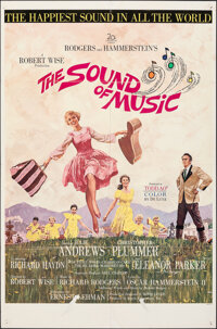"""The Sound of Music (20th Century Fox, 1965). Folded, Fine. One Sheet (27"""" X 41"""") Todd-AO Roadshow Style. Howar..."""
