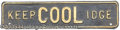 Political:3D & Other Display (1896-present), COOLIDGE LICENSE PLATE. Super-unusual and rare, with great sl...