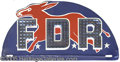 Political:3D & Other Display (1896-present), FDR LICENSE PLATE. A delightful and most unusual variety, in gre...
